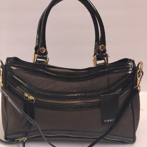 Treesje Handbag Brown/Black Large Satchel